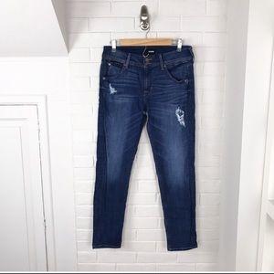 {Hudson} Dark Wash Distressed Skinny Jeans